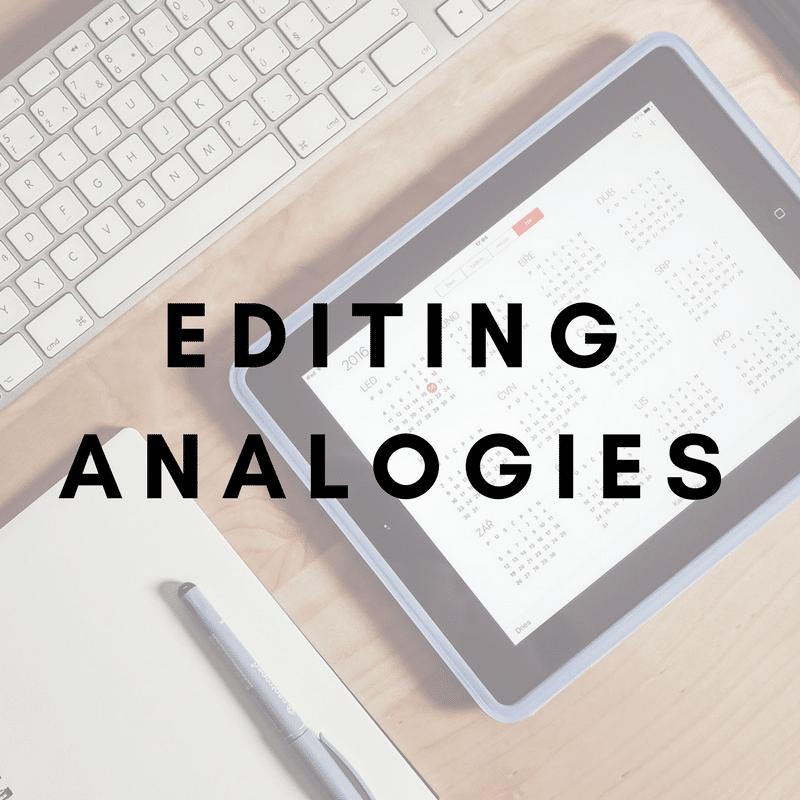 Editing analogies